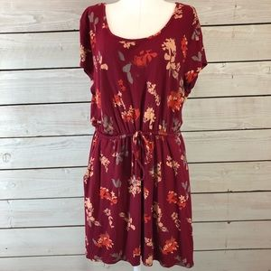 Lucky Brand Floral Pocketed Dress